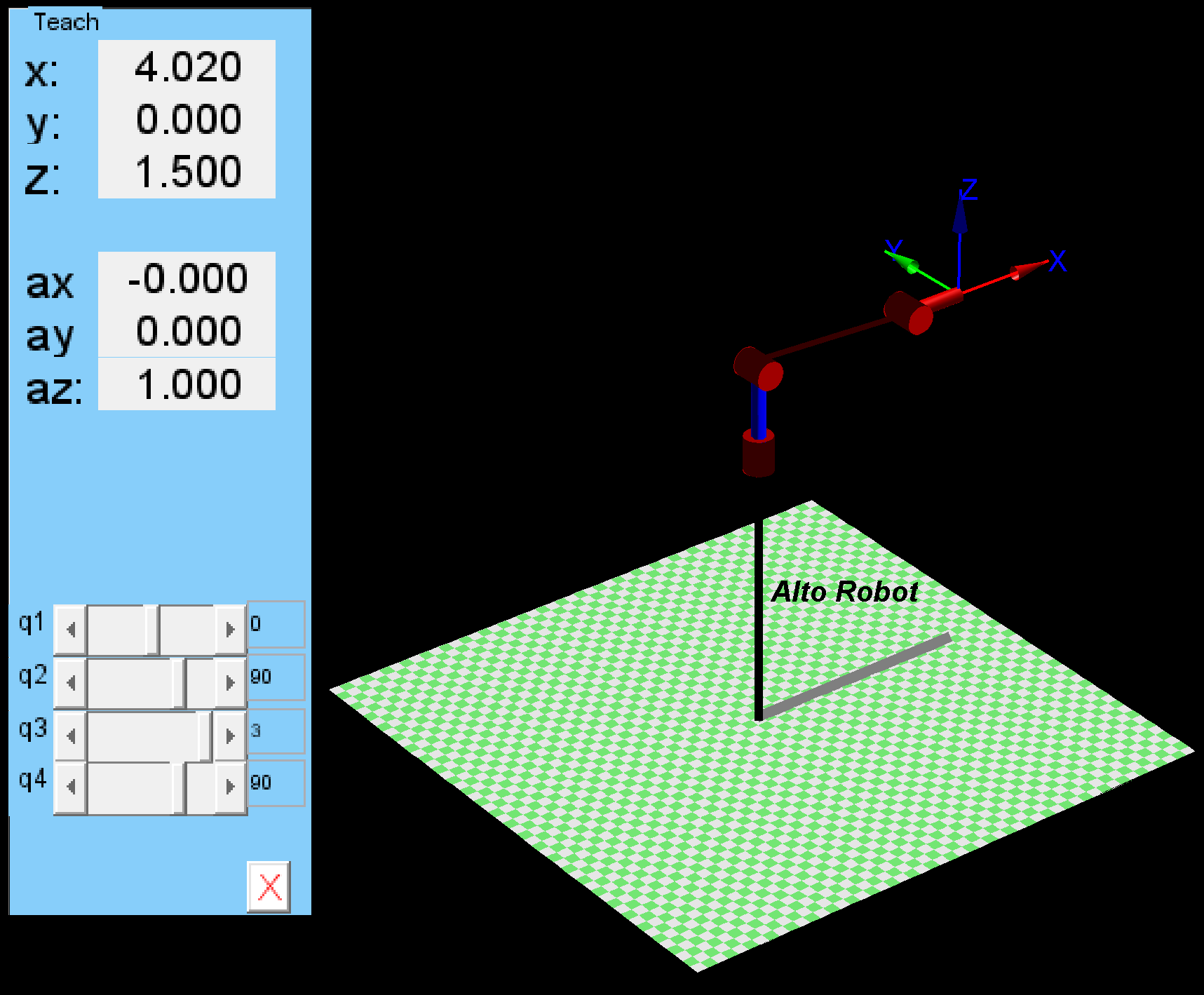 Robots kinematic simulation
